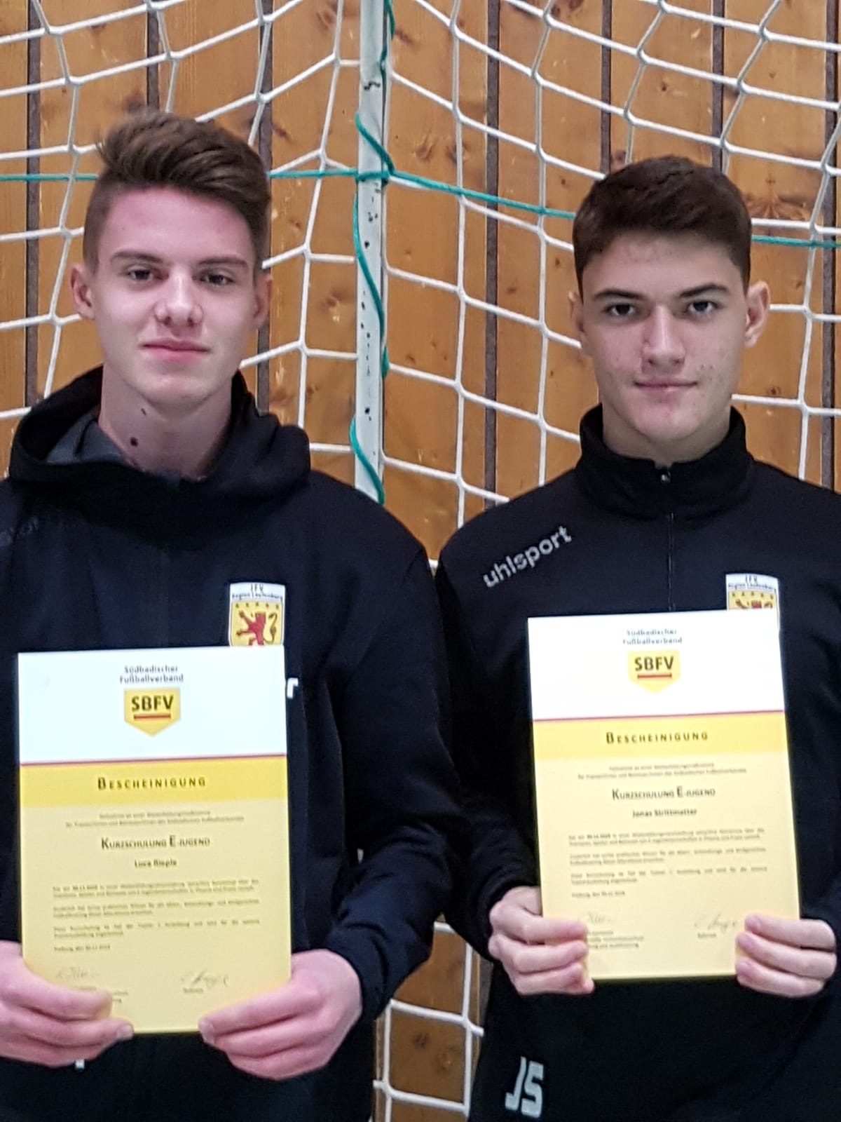 Luca Rieple und Jonas Strittmatter absolvieren erfolgreich SBFV-Trainerschulung